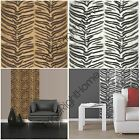 TIGER PRINT WALLPAPER AVAILABLE IN NATURAL GOLD & WHITE FEATURE WALL FREE P+P