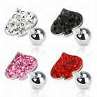 Tragus Ohr Helix Cartilage Barbell Piercing Stecker Multi Kristall Pik Ass
