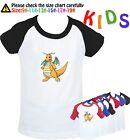 Pokemon sprites Dragonite Pattern Kids Birthday Gift Boy's Girl's T Shirt Tees
