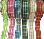 Berisfords Regal Tartan Ribbon 25mm or 40mm - Choose Colour Width and Length