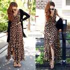 Fashion Women's Chiffon Maxi Dress Summer Casual Polka leopard Boho Long Dresses