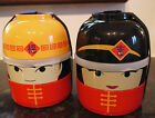 Japanese Fuwa Doll Bento Boxes Small Lunch Snack Boxes Food Storage Travel