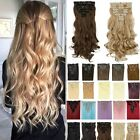 Real Hair Clip in Extensions Full Head 8PCS Long Thick Top Natural Quality 27L