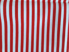 25mm Red & white stripe : 100% cotton fabric by the 1/2 metre