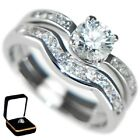 1.13CTW ROUND BRILLIANT STONES - WEDDING RING SET (2 RINGS) Size 5,6,7,8,9,10