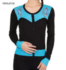 BANNED Black Seahorse Cardigan Aqua Blue ~ Reign Over Me All Sizes