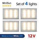 4 Pack of 12V LED Caravan Motorhome Campervan Boat Van Lights Lamps Lighting NEW