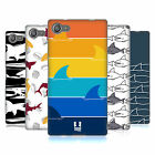 HEAD CASE DESIGNS SHARK PRINTS SOFT GEL CASE FOR SONY XPERIA Z5 COMPACT