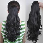 Best Clips In Claw Ponytail long Pony Tail Hairpiece curly straight wavy layered