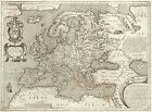 MP59 Vintage 1602 Historical Antique Old Map Of Europe Poster Print A1/A2/A3
