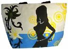 Beach Shopping Cotton Shoulder Bag Holiday Hold-all 33cm