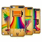 HEAD CASE DESIGNS COLOUR DRIPS HARD BACK CASE FOR APPLE iPOD TOUCH 5G 6G