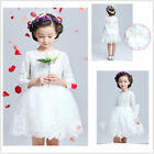 New Gorgeous White Communion Flower Girl Evening Party dress easter dresses