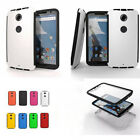 New Shockproof Wrap Up Case Cover w/Built In Screen Protector For Motorola Moto