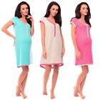 Purpless Maternity 100% Cotton Star Print Pregnancy and Nursing Nightdress 5038n