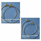 Earring Hoops 40mm Silver Gold Plated Jewelry Finding Beading Supply
