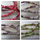 Marbled Glass Beads 5mm and 7-8mm Green Pink Brown Splatter Beads