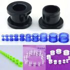 2-16mm Pair Double Flare Acrylic Ear Expander Stretcher Plugs Tunnel Gauge Punk