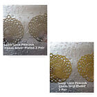 Earring Lazer Lace Peacock Gold Silver Plated 33x30mm