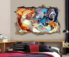 Charizard Pokemon Smashed Wall Decal Graphic Wall Sticker Decor Art H378