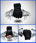 2016 Men Weight Lifting Gym Fitness Workout Training Exercise Half Gloves Black