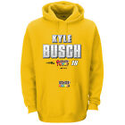2016 KYLE BUSCH #18 M&M'S GOLD ULTIMATE HOODED SWEATSHIRT NASCAR