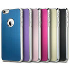 Ultra-Thin Hybrid Aluminum Brush +PC Hard Case Cove for iPhone 6 4.7/6 Plus 5.5