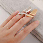 New 1PC Fashion Women Jewelry Gold Silver Plated Metal Top Finger Nail Art Ring