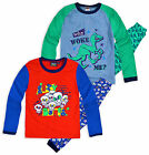 Boys Monster Dinosaur Kids Long Sleeve Pyjamas Pjs Set New Age 2 3 4 5 6 Years