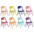 Hercules Color Burst Triple Braced & Double Hinged Metal Folding Chair