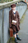 1940'S-WW2- Wartime EVACUEE BOY Includes Gas Mask Box- Fancy Dress- All Ages