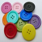 10 ROUND LARGE 4 HOLE RESIN BUTTONS 30mm Traditional Retro Clown - Sewing Craft