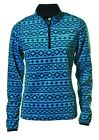Catmandoo Thermal Micro Fleece Base Layer 1/4 Zip Golf Top Turquoise, Navy 10-20