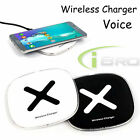 Smart Voice LED Qi Wireless Fast Charger Charging Pad for Samsung Galaxy S7 Edge