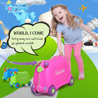 New Funny Kids Rolling Ride on Pull-Along Travel Luggage Children's Suitcase