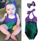Summer Girls Baby Mermaid Bikini Suit Swimsuit Swimming Costume Swimwear Fancy