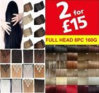 Hair Extensions UK Cheap Sale 8Pcs Full Head Clip in Hair 18-22 Inches synthetic