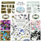 Large Beginners Jewellery Making Starter Kit Instructions Silver Findings Beads