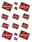 "SHEET OF MILWAUKEE ROAD STICKERS  (8.5"" X 11"") S scale"