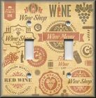 Switch Plate Cover - Kitchen Decor - Wine Labels - Bar Home Decor