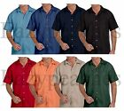 "Peaches Pick - ""CUBAVERA STYLE"" Men's S-5XL 6XL SHADOWBOX Button Down Camp Shirt"