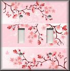 Asian Home Decor - Light Switch Plate Cover - Pink Cherry Blossoms - Flowers