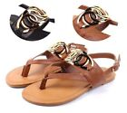 2 Color Fashion Summer Faux Leather Easy Slip On Slingback Womens Sandals Size
