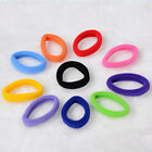 50PCS High Quality Girl Women Soft Ring Elastic Ties Hair Band Hairband Rope AA