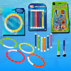 DIVING RINGS STICKS BALLS SWIMMING POOL TOYS FUN GAMES KIDS SWIM UNDERWATER DIVE