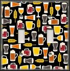Metal Light Switch Plate Cover - Mugs Of Beer On Black - Bar Home Decor