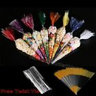 100pcs Party Bags Clear cone Coloured bags cello cellophane sweet candy Display#