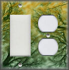 Metal Light Switch Plate Cover Tree Tops Green Gold Home Decor Tree Nature Decor