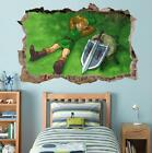 LINK Legend Of Zelda Smashed Wall Decal Graphic Wall Sticker Decor Art H382