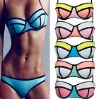 2016 Sexy Womens Bikini Set Push Up Padded Top Bottom Beach Swimsuit Swimwear FO